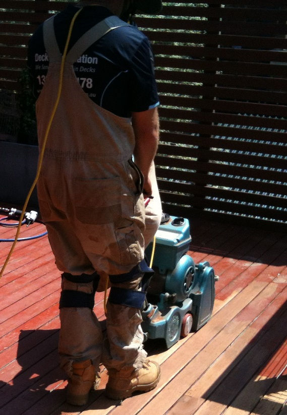 sanding a deck in sydney